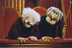 Statler and Waldorf on the balcony in The Muppet Show