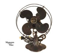 Charming Vintage Table Fan from Emerson Electric, Model 3140, Black Cast Iron, Great Working Condition, rewired for Safety on Etsy, $120.00