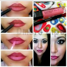 DIY Ombre Lips #makeup #tutorial