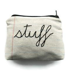 Stuff Zipper Pouch   For storing stuff (or any other little thing that needs a home...   Pen & Pencil Cases