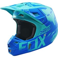 All New Fox Racing 2015 Limited Edition Union Helmet Aqua available at Motocrossgiant. Check Out the Complete Line of Fox Racing Helmets all at the Lowest Price! Motocross Love, Motocross Helmets, Racing Helmets, Motocross Outfits, Dirt Bike Riding Gear, Dirt Bike Helmets, Dirt Biking, Scrambler Motorcycle, Motorcycle Helmets