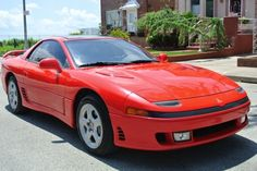 1992 Mitsubishi 3000GT VR-4 Twin Turbo Finished in beautiful red color over black leather interior.