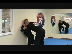 Women's Self Defense Video 1 - Escaping a front choke against a wall