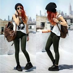 Luanna Perez. Comfy outfit need these pants!