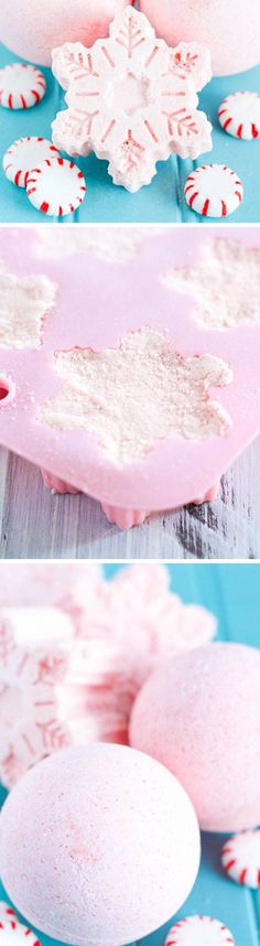 Handmade Peppermint Bath Bombs | Click Pic for 22 DIY Christmas Gift Ideas for Mom | Handmade Christmas Gifts for Grandma