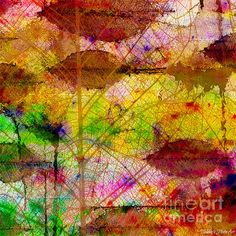 Colorful Leaves Abstract V by Debbie Portwood