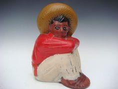 Old Mexican Mexico vintage Early California Monterey ceramic bank