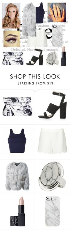 """Classy on the Exterior, Broken in the Interior"" by the-real-snow-white101 ❤ liked on Polyvore featuring Topshop, Ally Fashion, Valentino, Chloé, NARS Cosmetics and Uncommon"