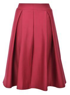 Red Zipper Ruffle A Line Skirt EUR€17.22