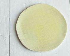 Plates Textured Dessert Plate Set Yellow