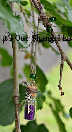 Fairy Dust Bottle w/Fairy Key Car Charm  by ItsOurShangriLa