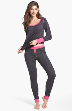 Steve Madden 'Cozy Up' Sparkle Lurex® Thermal  Set available at #Nordstrom