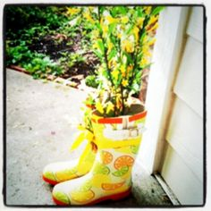 What to do with your old rainboots   Made by @Vicki