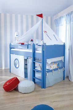 Ideas Baby Boy Bedroom Themes Bunk Bed For 2019 Boys Bedroom Themes, Room Ideas Bedroom, Kids Bedroom, Kids Rooms, Boys Room Design, Nursery Design, Diy Toddler Bed, Diy Zimmer, Coastal Living Rooms