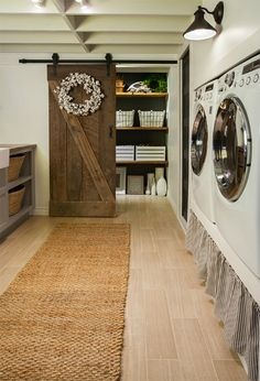 farmhouse laundryroom | This lost socks bucket is so cute, and easy to make with chalkboard ...