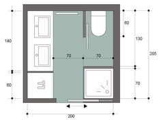 Salle de bains carr e 4m bathroom pinterest for Amenagement sdb 5m2