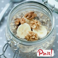 Banana Nut Bread Overnight Oats