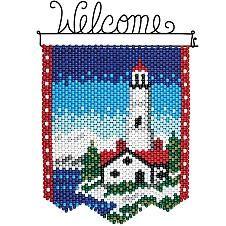 Herrschners® Winter Lighthouse Beaded Banner Kit