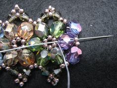 Czech Glass Bangle Tutorial ( Also a nice tutorial on making a beaded bead clasp)