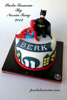 BATMAN AND SPIDERMAN CAKE by CAKE BY NESRİN TONG, via Flickr