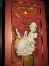 """Lenox Grinch Ornament """"Merry Grinchmas To All"""" NEW IN BOX"""