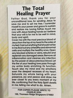 """"""" Total Healing Prayer """""""