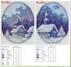 Gallery.ru / Фото #2 - 1 - irinika winter Christmas church house blues
