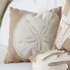Sand Dollar Jute Pillow Cover #birchlane