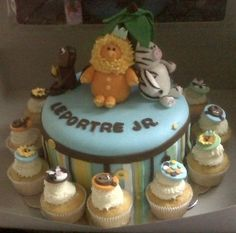 King of the Jungle Themed Baby Shower Cake By happyhome on CakeCentral.com