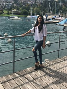 Janhvi in Switzerland College Wardrobe, College Outfits, Night Outfits, Cool Outfits, Dress Outfits, Fashion Outfits, Beautiful Bridal Makeup, Flare Top, Indian Actress Photos