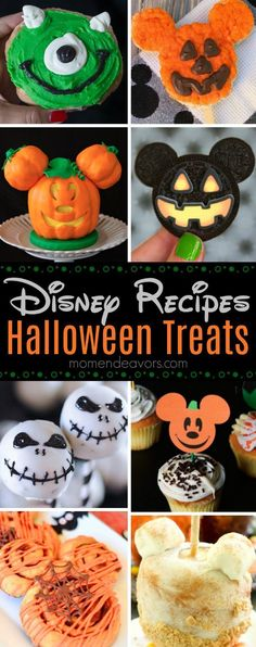 Best Disney-Inspired Halloween Treat Recipes - cute Disney Parks copycat and Disney-inspired Halloween recipes treats aesthetic Disney Inspired Halloween Recipes - Mom Endeavors Disneyland Halloween, Halloween Desserts, Disney's Halloween Treat, Hallowen Food, Hallowen Ideas, Halloween Camping, Halloween Goodies, Halloween Cupcakes, Halloween Food For Party