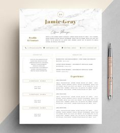 CV Template   Creative Resume Template   Two Page Professional CV       CV Template   Creative Resume Template   Two Page Professional CV   Cover  Letter   Advice   Printable for Word   The  Beauvoir  Creative CV    Pinterest   Cv