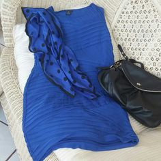 Dress Beautiful royal blue mini dress.  Side zipper sleveless and so cute.  Gently used in great shape. new directions Dresses Mini