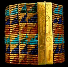 Bracelet of Queen Ahhotep. Made of gold and semi-precious stones. (1560 - 1530 BC) during the end of the 17 Dynasty.