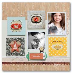 Simple Frames #scrapbook #layout #simple