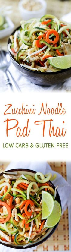 Love Pad Thai, but not the fat and carbs that come with it?! Then you should try out my Zucchini Pad Thai!