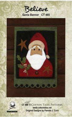 Wool Felt Central - Wool Felt Patterns...Santa banner.