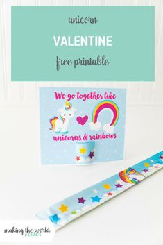 Unicorn Valentine Day Cards to Print for Slap Bracelets : Unicorn Valentine Slap Bracelet Free Printable Homemade Valentines, Valentines Day Party, Valentines For Kids, Valentine Day Crafts, Valentine Box, Valentine Wreath, Valentine Ideas, Unicorn Printables, Valentine's Day Printables