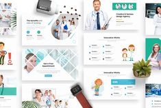 Medical Clinic Health Doctor Keynote by One Percent Studio on Medical Photos, Medical Design, Broken Images, Ads Creative, Creative Powerpoint Templates, Creative Visualization, Keynote Template, Presentation Templates, Clinic