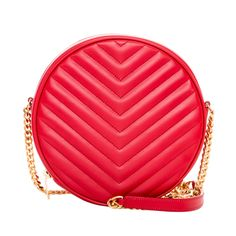 Keep all your necessities in one place with this quilted bubble bag from Saint Laurent. The chevron stitching, supple leather construction and goldtone hardware on this Italian designer handbag represent your taste for stylish perfection.
