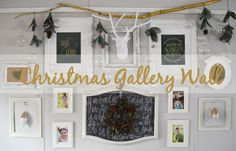 Christmas Gallery Wall (www.trailertrashtreasuretrove.com)