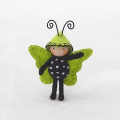 Tiny Butterfly Lime Green and Black by dreamalittle7 on Etsy https://www.etsy.com/listing/225990222/tiny-butterfly-lime-green-and-black