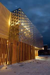 This project mainly focused on renovating the facade of an existing two-story wooden structure, built in the as a Japanese restaurant, surrounded by th. Building Renovation, Building Facade, Building Exterior, H Design, Facade Design, Exterior Design, Islamic Architecture, Facade Architecture, Architecture Colleges