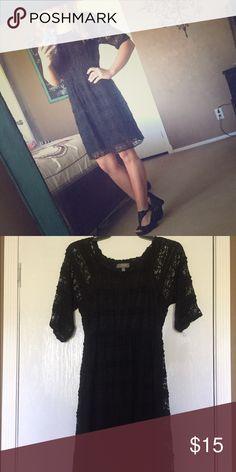 Boutique LBD Black lace boutique dress.. Size small. Worn once. Super cute & comfy! Dresses