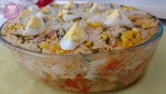 Arroz de Momo (com salsicha) Potato Salad, Mashed Potatoes, Low Carb, Vegetables, Ethnic Recipes, Desserts, Food, Fitness, Videos
