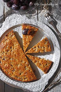 Сливовый пирог. #pie, #sweet, #plum, #food, #recipes