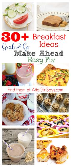 More than Quick Breakfast Recipes that you can make ahead, grab and go or make in a snap #recipe