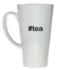 Hashtag Twitter Tea Mug, Latte Size