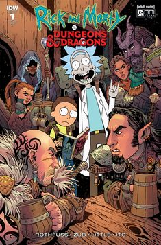Rick and Morty vs Dungeons & Dragons Issue Rick And Morty Comic, Rick And Morty Quotes, Rick And Morty Poster, Comic Book Covers, Comic Books Art, Book Art, Photography Pics, Amazing Photography, Pose Reference Photo