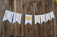 Oh Baby Banner Baby Shower